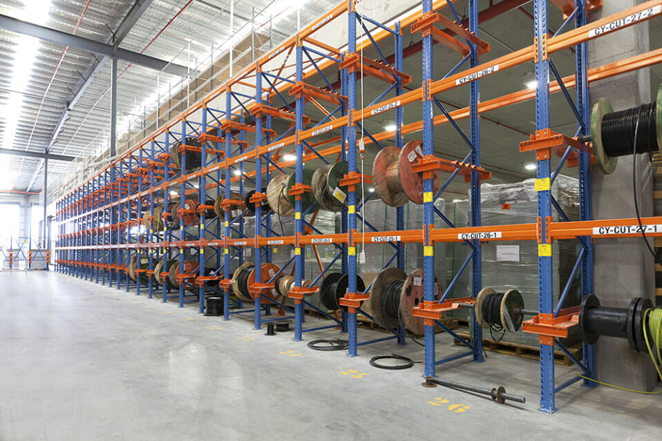 Used Adjustable And High Capacity Reel Racks For Cable Storage
