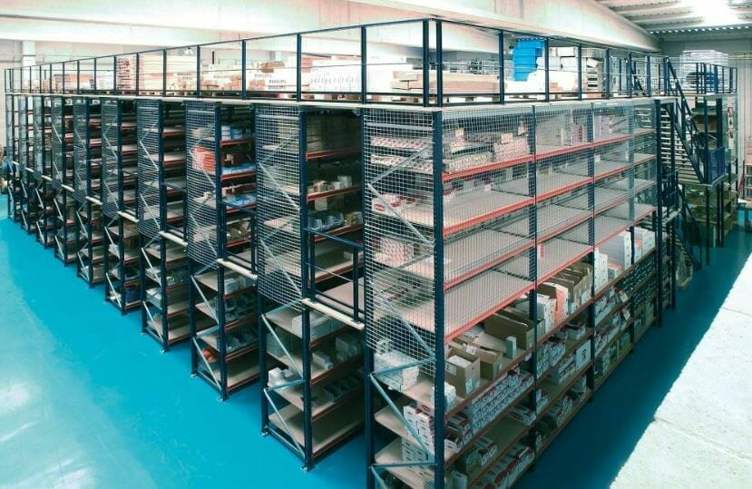 Wide-span-shelves-with-second-level-catwalks-and-a-third-level-mezzanine-floor